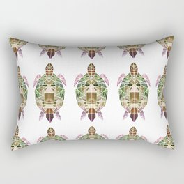 green mosaic turtle Rectangular Pillow