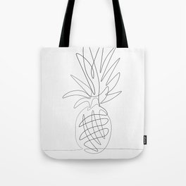 One Line Pineapple Tote Bag