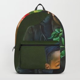 African American Masterpiece 'American Beauty' Portrait Painting Backpack