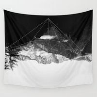 crystal Wall Tapestries featuring Crystal Mountain by Schwebewesen • Romina Lutz