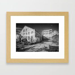 Abandoned Factory Falkland Framed Art Print