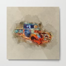 Abandoned Ford Truck Metal Print
