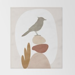 Cute Little Bird III Throw Blanket