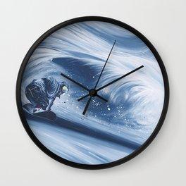 'Snowboarding Blue Blower' Wall Clock