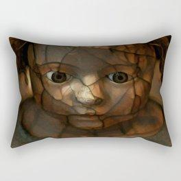 Old Doll Face Rectangular Pillow