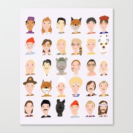 Wes Anderson Characters Canvas Print