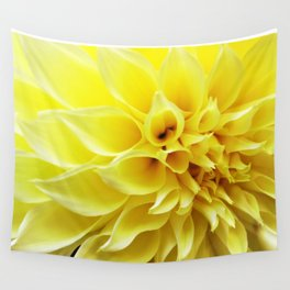 Summer Dahlia in Yellow Wall Tapestry