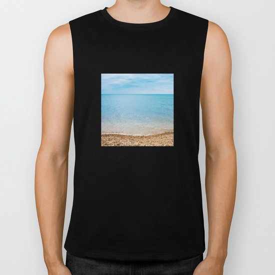 sea sand beach 4 Biker Tank