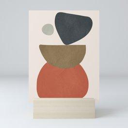Abstract Balancing Stones Mini Art Print