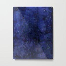 Galaxy Watercolor Nebula Texture Night Sky Stars Metal Print