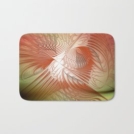 orange and red on texture Bath Mat
