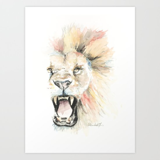 Savage Lion Art Print