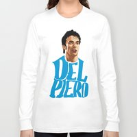 juventus Long Sleeve T-shirts featuring Del Piero Name Blue by Sport_Designs