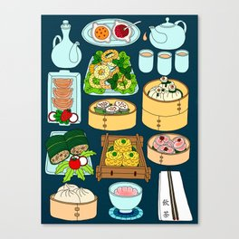 Dim Sum Lunch Canvas Print