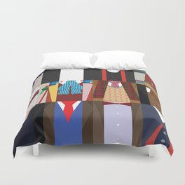 The 12 Doctors Duvet Cover