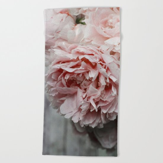 Peonies  Beach Towel