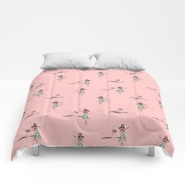 Tropical Vibes - Hula Dancer Comforters