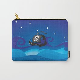 pirate ship at the sea Carry-All Pouch