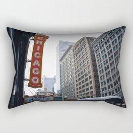 The Windy City Rectangular Pillow