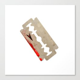 Razor Blade Canvas Print