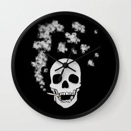 Smoking skull Wall Clock