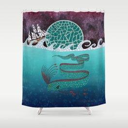 Ore Fish Mosaic Shower Curtain