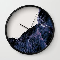 White Space Mountain  Wall Clock