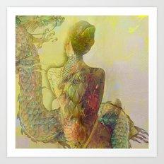 The guard of the eternal dragon Art Print