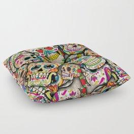 Sugar Skull Collage Floor Pillow