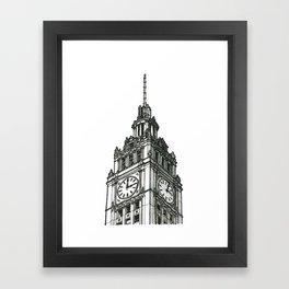 Triptych 1 - Wrigley Building - Original Drawing Framed Art Print