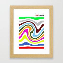 I Love Colour Framed Art Print