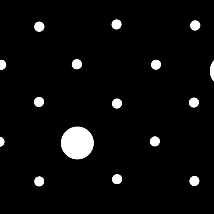 Pin Point Polka Dots White on Black Leggings