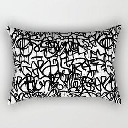 Graffiti Pattern | Street Art Urban Graphic Rectangular Pillow