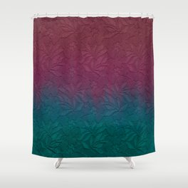 Gable green navy blue burgundy lace gradient Shower Curtain