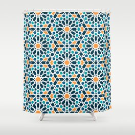 Tile of the Alhambra Shower Curtain