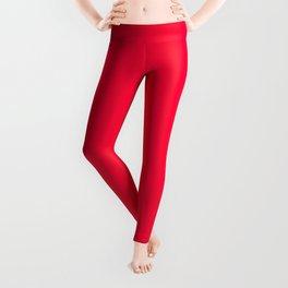 Carmine Red - solid color Leggings