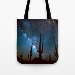 Milky Way Cacti Tote Bag