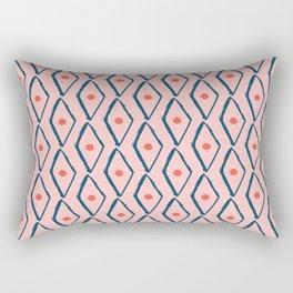 Pink Navy Diamond pattern Rectangular Pillow