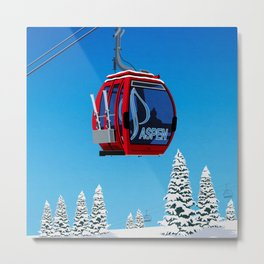Aspen Colorado Ski Resort Cable Car Metal Print