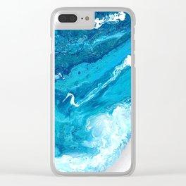 Pearlescent Shorebreak Clear iPhone Case