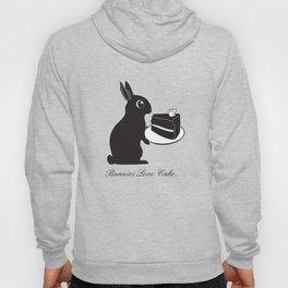 Bunnies Love Cake, Bunny Illustration, cake lovers, animal lover gift Hoody