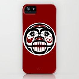 Northwest Pacific coast Haida Weeping skull iPhone Case