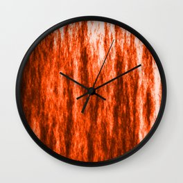 Bright texture of coated paper from brown flowing waves on a dark fabric. Wall Clock