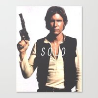 han solo Canvas Prints featuring Han / Solo by Earl of Grey