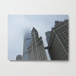 Chicago in the Clouds Metal Print