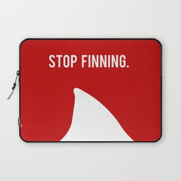 Stop Fin-ning Laptop Sleeve
