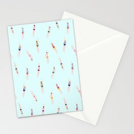 Swimmers in the pool Stationery Cards