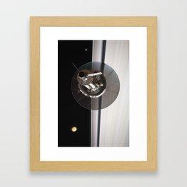 Kronos 1 over Saturn's Rings (2/4) Framed Art Print