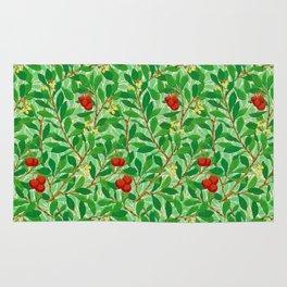 William Morris Lychee Tree Pattern, Light Jade Green Rug