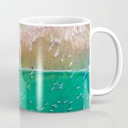 Surfers Paddling Out Coffee Mug